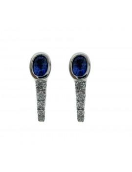 Boucles d'oreilles Saphir Diamant