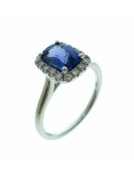 Bague Saphir Scintillantes de Diamant