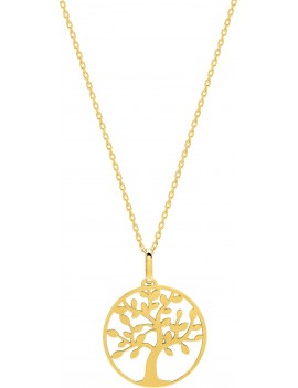 Collier Or Jaune Arbre de VIE