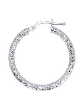 Créoles Or Blanc Diamanté