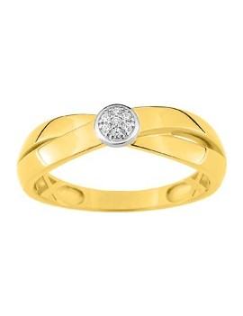 Bague or jaune Diamants