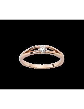 Solitaire Or rose diamant