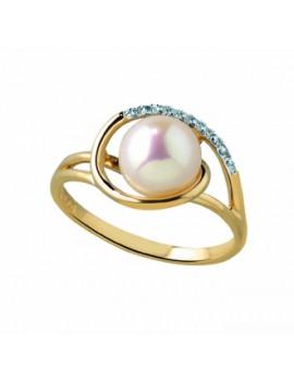 Bague  Or Jaune Perle Diamant
