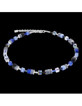 Collier GeoCUBE® bleu cobalte