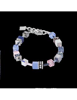 Bracelet GeoCUBE® bleu-rose