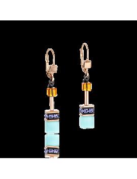 Boucles d'oreille GeoCUBE® multicolore Couture 2